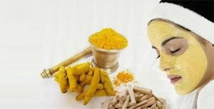 Bengal Gram Flour (Besan) and turmeric face pack