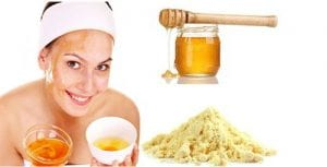 Milk powder, almond oil and honey face pack