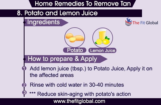 home remedies to remove tan overnight