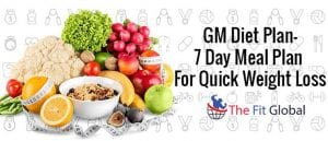 GM Diet Plan—A 7-day meal plan for quick weight loss