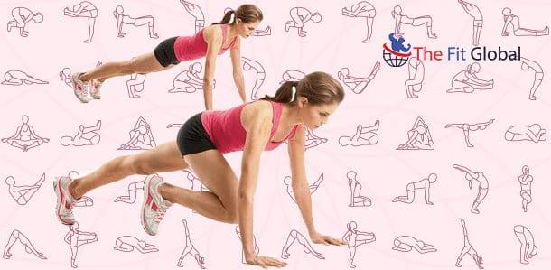 Push up and knee kick