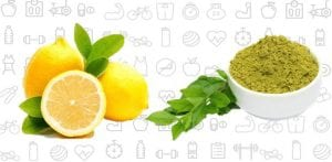 Lemon Juice with Henna leaves
