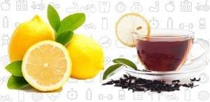Lemon and Black Tea for shining