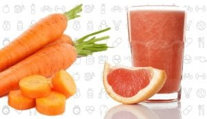 Carrot And Grape Fruit Smoothie
