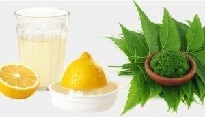 Lemon Juice and Neem