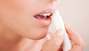 dry lip balm
