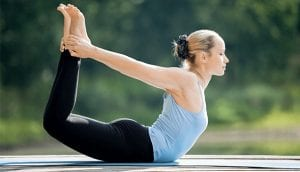 Bow pose or the Dhanurasana