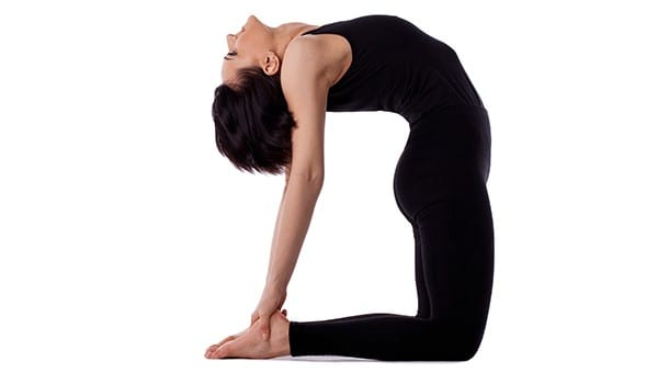 Camel pose or the Ustrasana