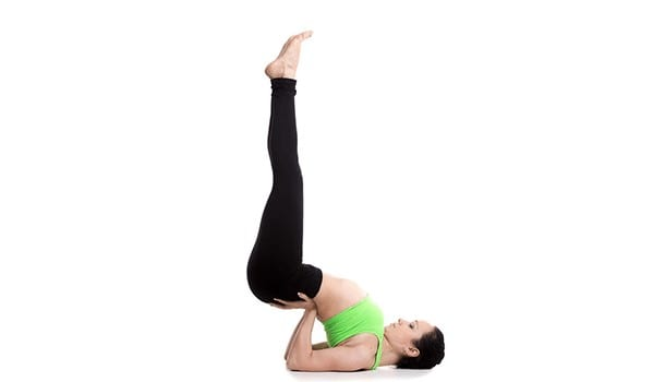 Leg up the wall exercise or the Viparita Karani
