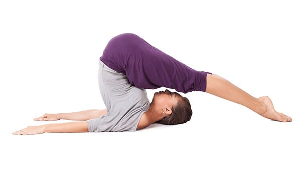 Plow pose or the Halasana