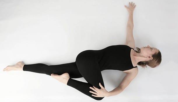 The two knee twist or the Supta Matsyendrasana