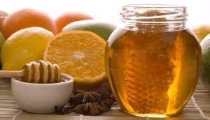 Lemon-honey syrup