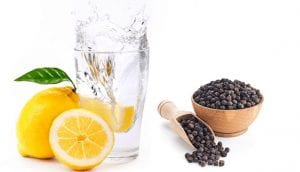 Lemon water with pepper