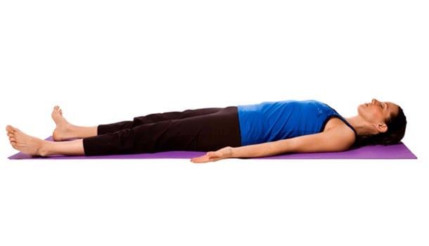 corpse posture or Shavasana