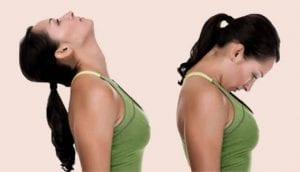 Chin nodding exercise