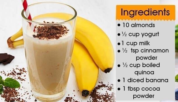 Chocolate And Banana Protein Shake
