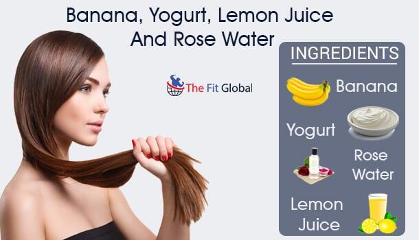 Banana, Yogurt, Lemon Juice And Rose Water