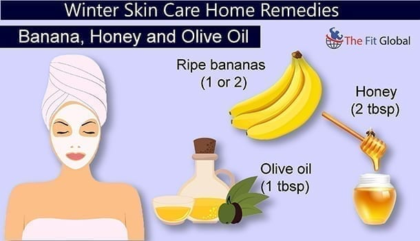 Banana, Honey and Olive Oil - winter skin care