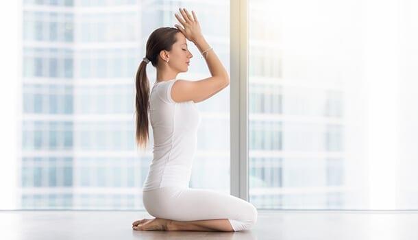 Vajrasana yoga pose for constipation