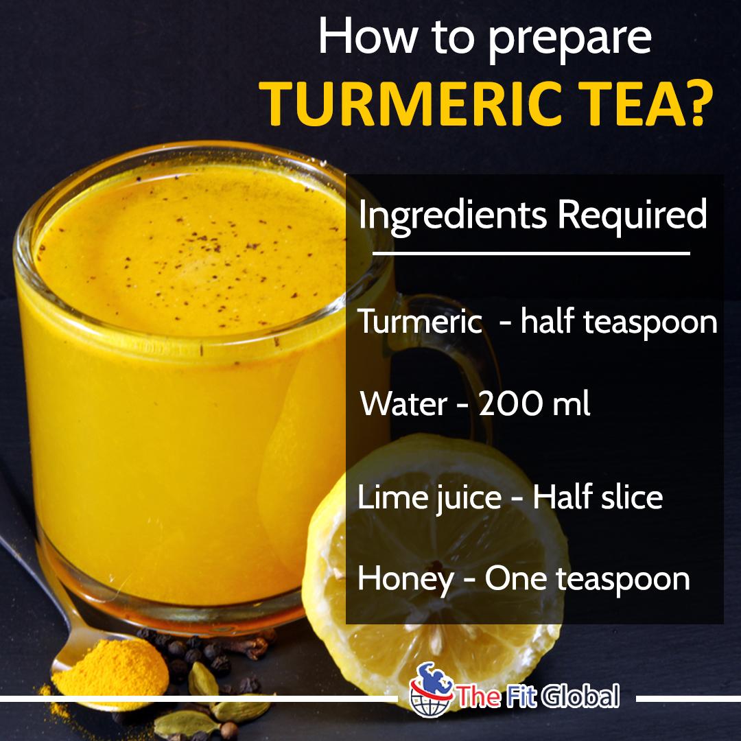 turmeric tea preparation