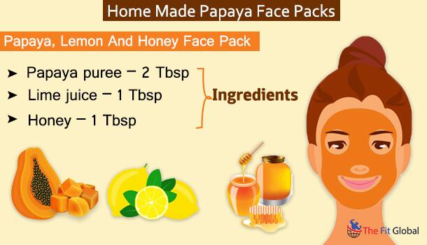 Papaya, Lemon And Honey Face Pack