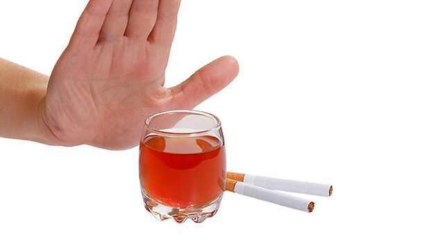 Avoid Cigarettes and Alcohols